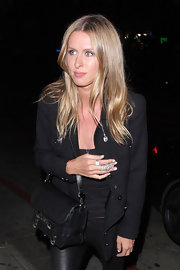 Nicky Hilton stepped out for an evening at the Chateau Marmont in West Hollywood wearing her hair casually tousled.