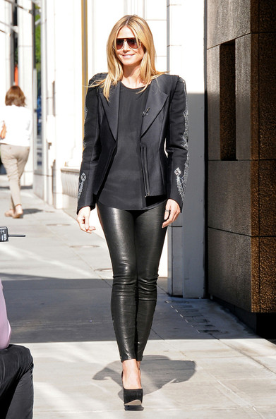 Heidi Klum Leather Pants