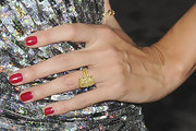 Heidi Klum flashed her yellow diamond wedding ring at the Hamptons magazine issue celebration.
