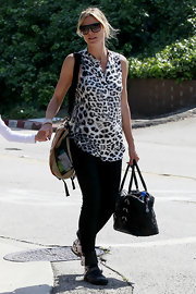 Heidi Klum wore a Corfu wrap bracelet while out with her family.