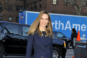 Hilary Swank Wool Coat