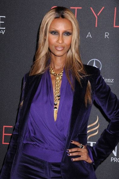 Iman showed off her long ombre tresses for the NYC Style Awards.