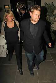 Julia Carey kept it classy in a pair of black knee-high boots as she dined in Scott's Restaurant.