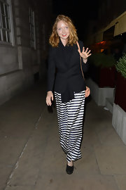Lily Cole kept it comfy yet stylish in black Chanel ballet flats during a night of clubbing.
