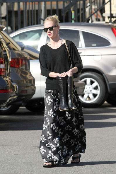 January Jones Long Skirt []