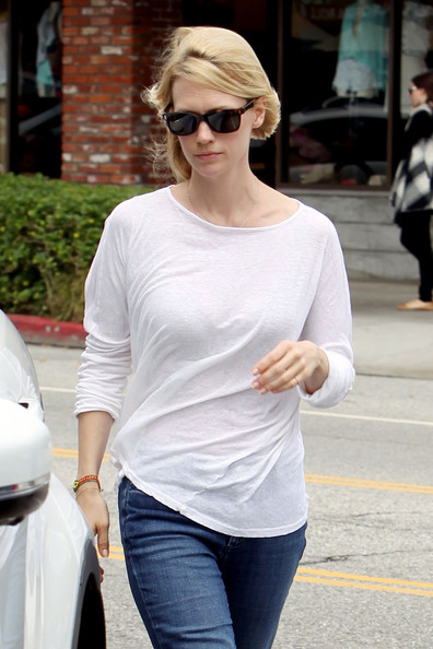 January Jones Rectangular Sunglasses []