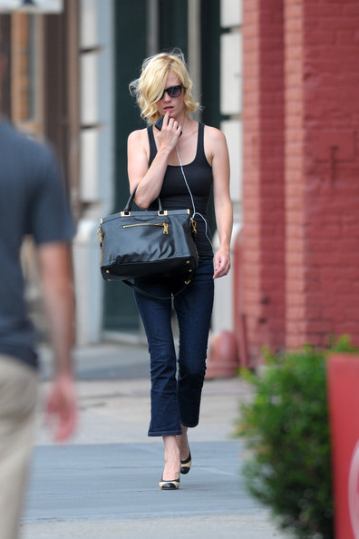January Jones Leather Tote