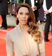 Mel C attended the British Olympic Team GB gala wearing her long ombre waves in side-swept waves.