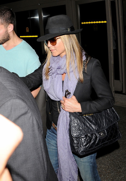 Jennifer Aniston Quilted Leather Bag