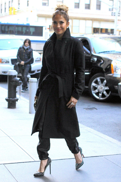 More Pics of Jennifer Lopez Wool Coat (7 of 15) - Wool Coat Lookbook - StyleBistro