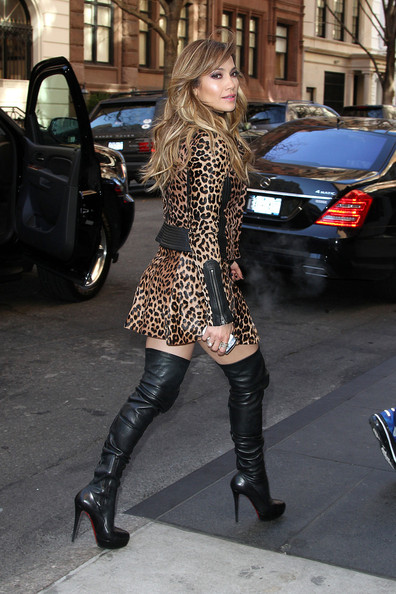 More Pics of Jennifer Lopez Over the Knee Boots (4 of 15) - Over the Knee Boots Lookbook - StyleBistro