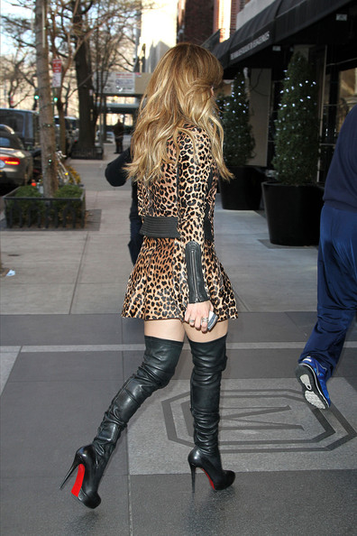 More Pics of Jennifer Lopez Over the Knee Boots (1 of 15) - Boots Lookbook - StyleBistro