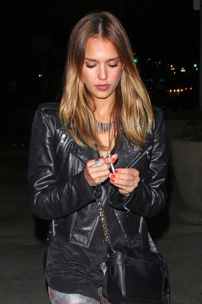 Jessica Alba Sterling Collar Necklace