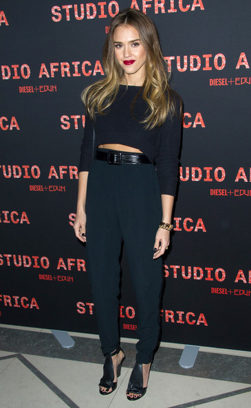 Jessica Alba High-Waisted Pants