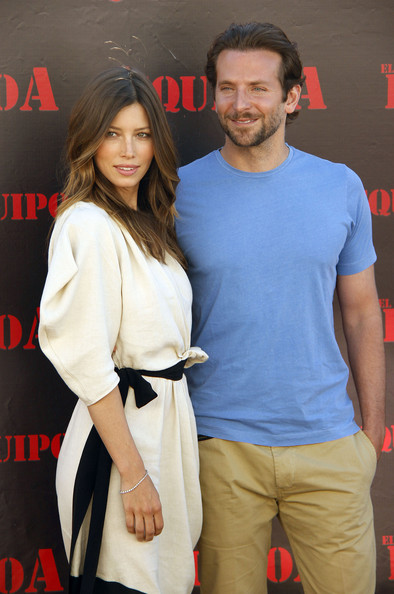 Jessica Biel and Bradley Cooper in Madrid