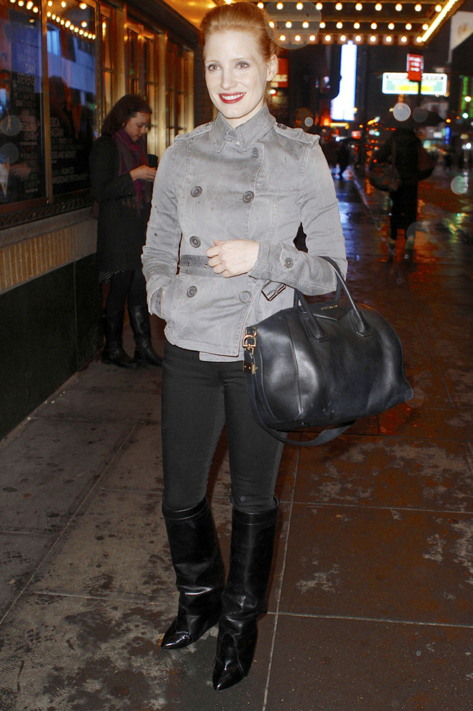Jessica Chastain Knee High Boots Knee High Boots