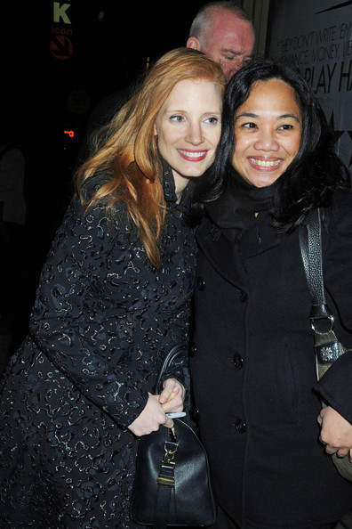 Jessica Chastain Arrives at the Theater in NYC