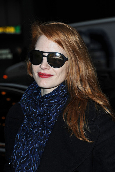 Jessica Chastain Oval Sunglasses
