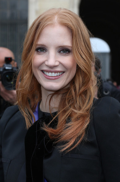 More Pics of Jessica Chastain Long Curls (2 of 5) - Jessica Chastain Lookbook - StyleBistro