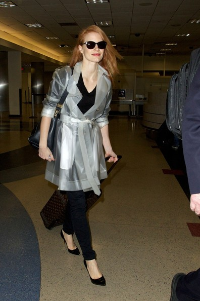 More Pics of Jessica Chastain Raincoat (1 of 10) - Raincoat Lookbook - StyleBistro
