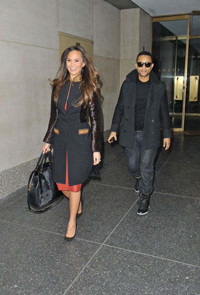 More Pics of Chrissy Teigen Wool Coat (1 of 19) - Chrissy Teigen Lookbook - StyleBistro