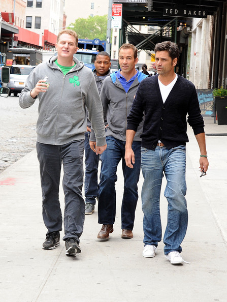 John Stamos and Crew Walk Around NYC
