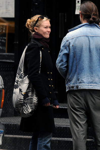 Julia Stiles Printed Hobo