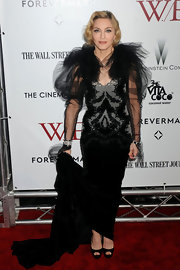 Madonna made a bold fashion statement in this over-the-top tulle number at the 'W.E.' NYC premiere.