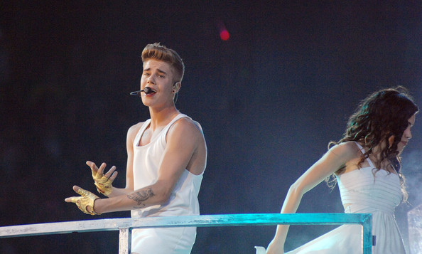 Justin Bieber Performs in Italy