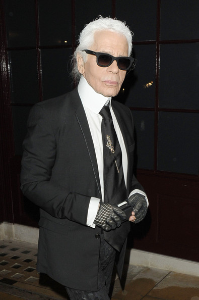Karl Lagerfeld at the Chanel: The Little Black Jacket - dinner held at Loulou's in London
