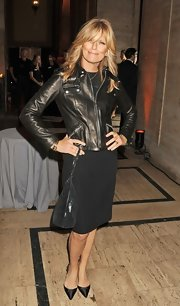 Patti Hansen, at the God's Love We Deliver 2012 Golden Heart Awards Celebration, complemented her head-to-toe black outfit with a black leather zip-up jacket.