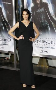 Sandrine Holt wore a black column dress to the 'Underworld' premiere.