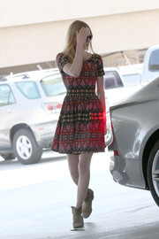 Kate Bosworth was spotted in LA looking girly in an Asos print dress.