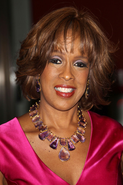 More Pics of Gayle King Gemstone Statement Necklace (1 of 2) - Gayle King Lookbook - StyleBistro
