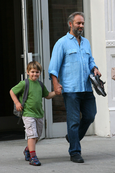 Kate Winslet and Sam Mendes Walk the Kids to School