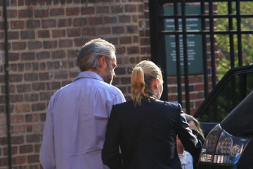 Kate Winslet Sam Mendes Kate Winslet and Sam Mendes Take Their Children to School