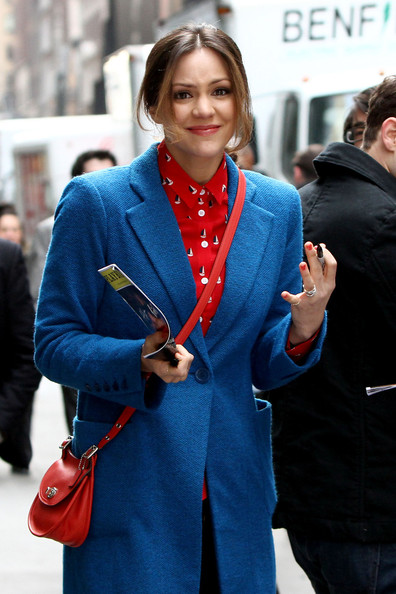 More Pics of Katharine McPhee Wool Coat (4 of 9) - Wool Coat Lookbook - StyleBistro