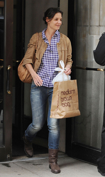 Katie Holmes Motorcycle Boots []