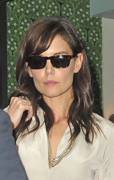 Katie Holmes Layered Chainlink Necklaces
