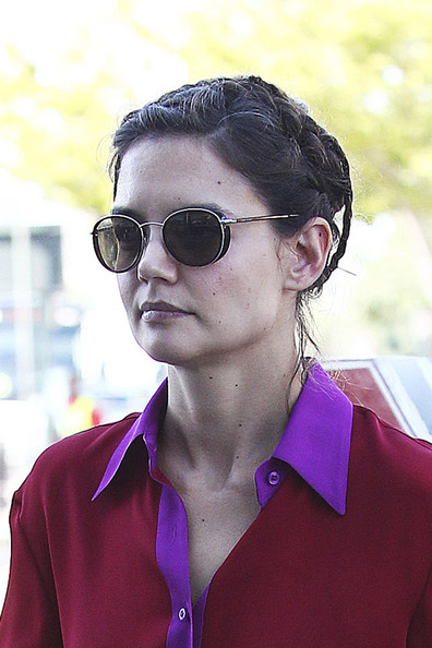 Katie Holmes Oval Sunglasses