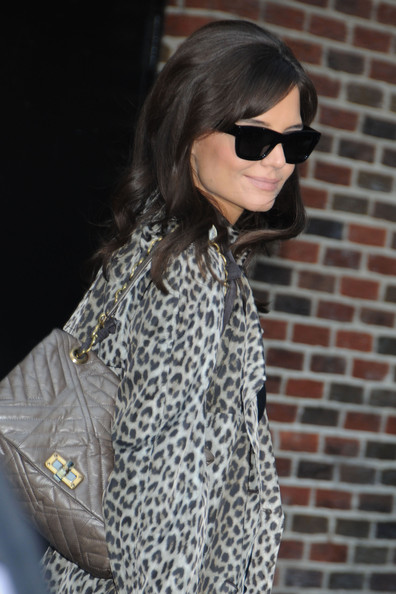 More Pics of Katie Holmes Printed Coat (1 of 11) - Outerwear Lookbook - StyleBistro