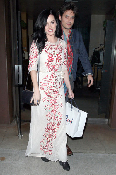 Katy Perry and John Mayer Leave Vincenti Restaurant