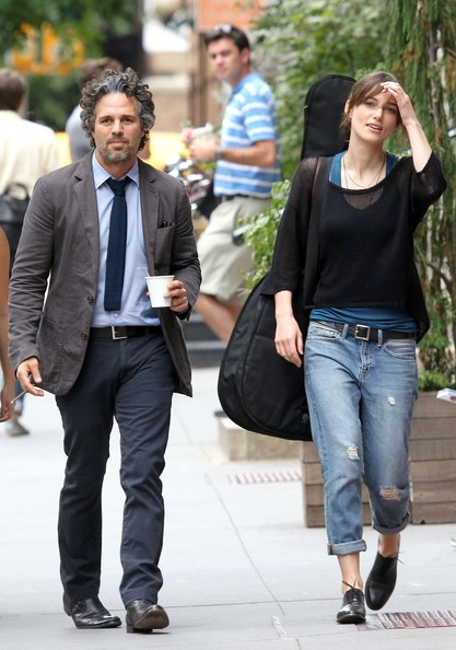 Keira+Knightley in Keira Knightley and Mark Ruffalo Together on Set