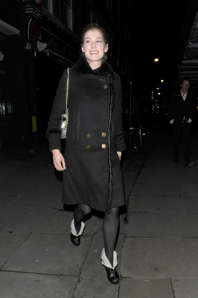 More Pics of Rosamund Pike Ankle Boots (1 of 3) - Rosamund Pike Lookbook - StyleBistro