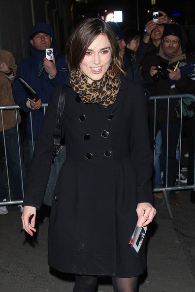 Keira Knightley Patterned Scarf