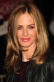 Trinny Woodall sported a glossy layered cut at the premiere of 'Morning Glory.'