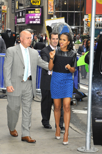 More Pics of Kerry Washington Leather Dress (1 of 6) - Kerry Washington Lookbook - StyleBistro