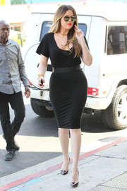 That body-con LBD really did a good job of accentuating Khloe Kardashian's curves.