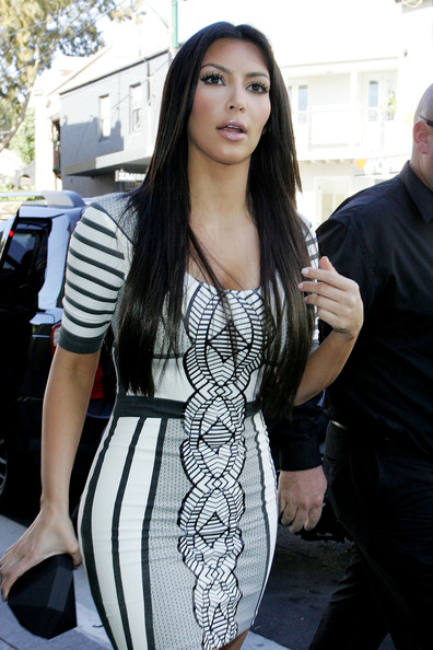 straight long haircuts with layers. kim kardashian haircut long