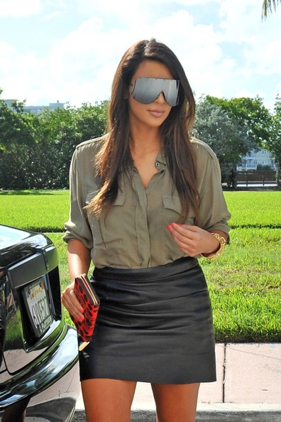 Kim Kardashian and Kanye West in Miami 5